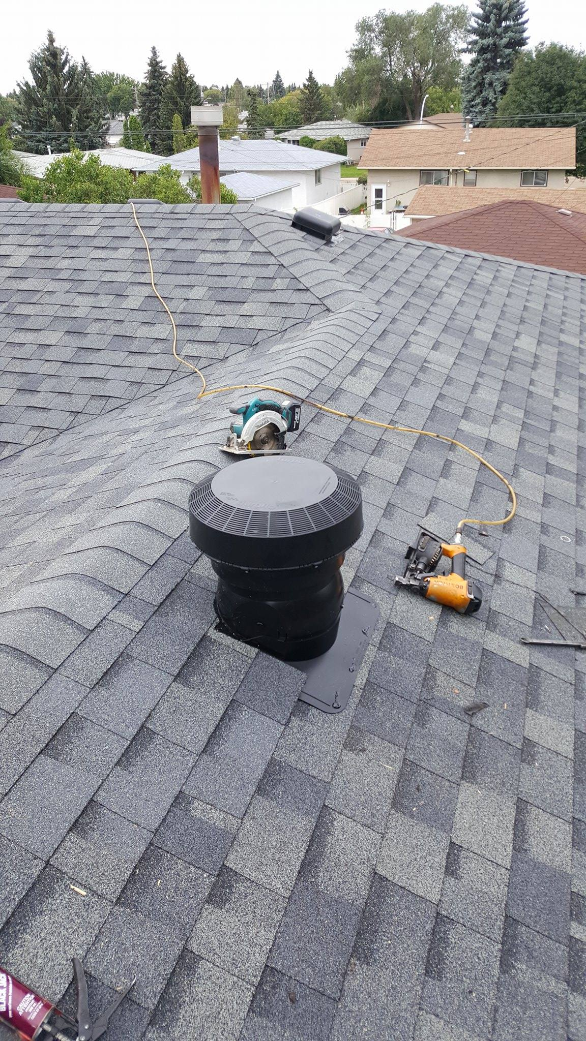 Roof replacement in Sherwood Park