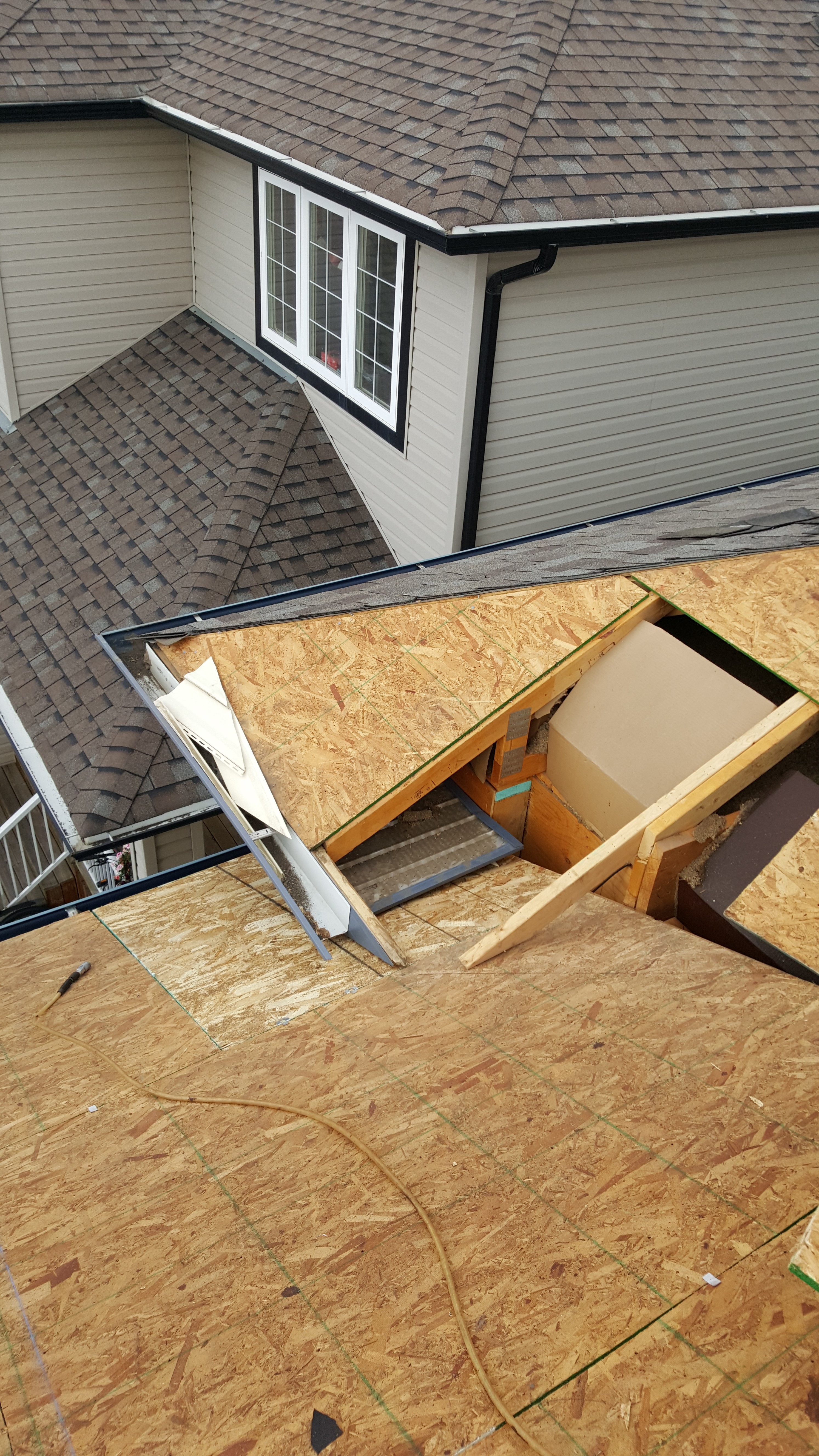 Roof repair in Spruce Grove